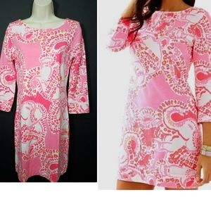 Lilly Pulitzer Hot Coral Elephant Trunk In Love XS